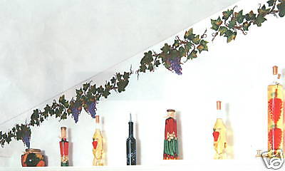 GRAPES AND VINES WALL ART DECOR WALL TRANSFERS TATOUAGE