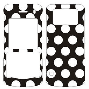 POLKA DOTS BLACKBERRY PEARL 8100 8110 8130 FACEPLATE SNAP ON COVER