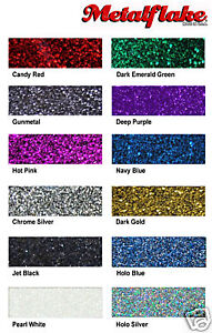 5 COLOUR SAMPLE PACK METAL FLAKE CUSTOM METALLIC PAINT