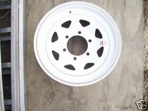 15-034-x6-034-White-Spoke-Wagon-Trailer-Camper-Wheel-Rim-6x5-5-lug-Triangle-hole