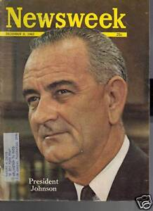 Newsweek-Magazine-President-Johnson-December-9-1963