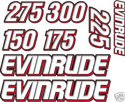 Evinrude Boat Motor Refurb Decal Kit All Engine Sizes