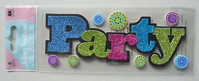 "1895 JOLEE'S 3D Stickers PARTY Title Glitter - 8""x3"""