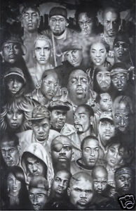 HIP-HOP-POSTER-034-50-CENT-EMINEM-TUPAC-SNOOP-DOGG-034-LICENSED-034-BRAND-NEW-034