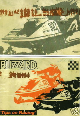 1973 SKI-DOO BLIZZARD RACING TIPS OWNERS MANUAL