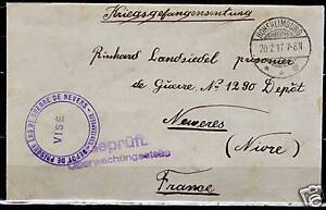 Reich-1917-cens-PofWarcover-Hohenlimburg-CAMP-Nevers