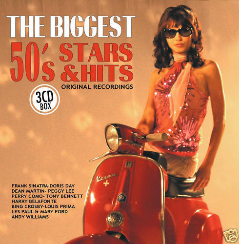 CD The Biggest 50s Stars and Hits von Various Artists  3CDs