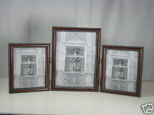 4x5 4x6 5x7 8x10 wood picture photo frame triple hinged. Black Bedroom Furniture Sets. Home Design Ideas