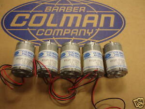BARBER COLMAN DC MOTOR HIGH SPEED 6500 RPM (LOT OF 5)
