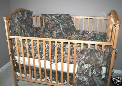 True Timber Camo Camouflage Crib Set, Baby Infant Toddler Bedding - 4 Pieces