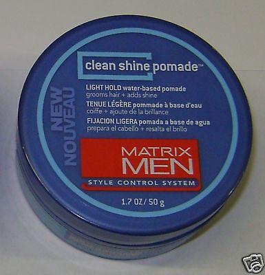 Matrix Men Clean Shine Pomade  Light Hold   Water Based 1 7 Oz   50 G