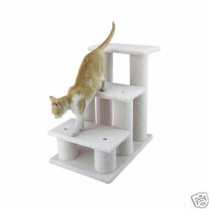 New armarkat pet steps cat dog stairs ramp 25x25x17 for Cat tree steps