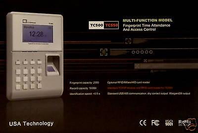 Fingerprint   Id Card Ethernet Control Time Attendance