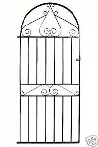 WROUGHT IRON METAL GARDEN SIDE GATE Warwick Bow Top 3ft