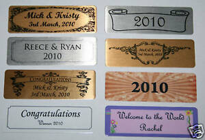 self adhesive name plate nameplate printed 7 6 x trophy photo frame plaque ebay. Black Bedroom Furniture Sets. Home Design Ideas