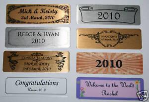 Self adhesive name plate nameplate printed 7 6 x - Plaque adhesive carrelage ...
