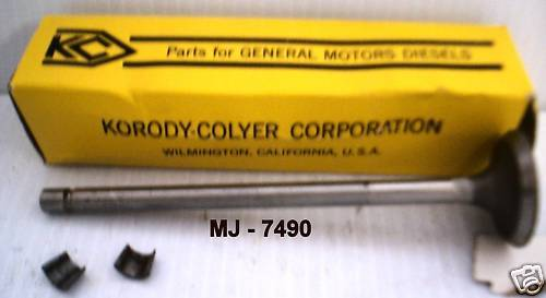 Korody-Colyer Corp. - Exhaust Poppet Valve Kit - P/N: K5194829 (NOS)