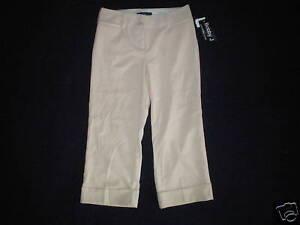 NEW NWT womens size 0 khaki BOBBY J dressy capris pants stretch ...