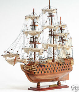HMS-Victory-Tall-Ship-Wood-Model-Sailboat-21-034-Assembled-Boat-Nelson-039-s-Flagship