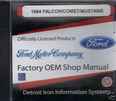 1964 Falcon/comet Shop/body /parts Manual On Cd