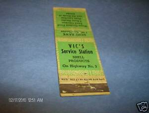 Vic-039-s-Service-Station-Shell-on-Hwy-No-3-Shell-Matchbook