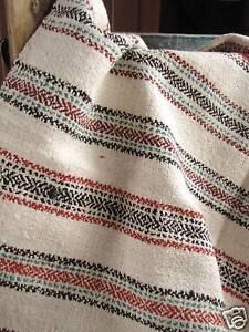 Antique-Homespun-wool-hemp-blanket-hand-woven-stripe
