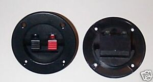 Speaker-Terminals-Round-Set-Of-Two-Very-Nice-Quality