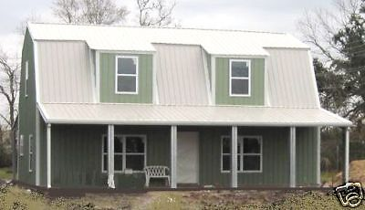 Steel Metal Gambrel Home Building Shell Kit, 2 floor 2720 sq ft
