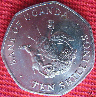 1987-UGANDA-10-SHILLINGS-EAST-CENTRAL-AFRICA-COIN-UNC