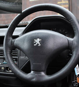 Fits Peugeot 307 Italian Leather Steering Wheel Cover Ebay
