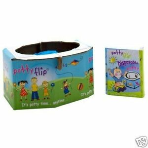 2 Potty Flip Bathroom Emergency Disposable Training Kids Car Children Toddler