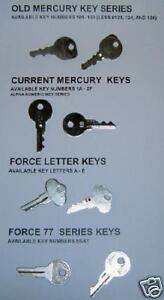 Replacement Mercury Mariner Force Honda Outboard Motor Spare Boat Ignition Key