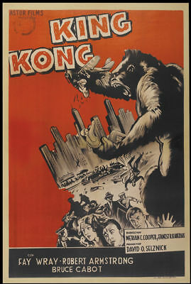 King Kong Fay Wray 1933 cult horror movie poster item print 7