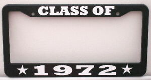 CLASS-OF-1972-LICENSE-PLATE-FRAME-FITS-CHEVY-FORD-MOPAR