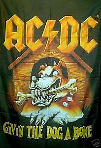 AC/DC ACDC AC DC TOUR FLAG GIVIN THE DOG A BONE WALL ROCK METAL BAND