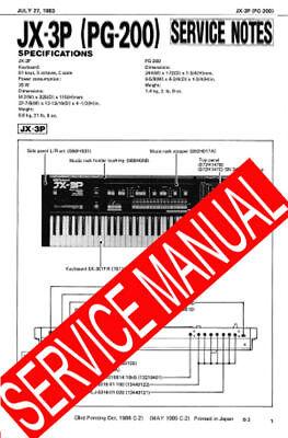 ROLAND JX3P JX-3P / PG-200 PG200 REPAIR /SERVICE Б/У