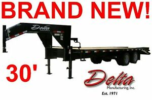 NEW-2014-30-DELTA-FLATBED-EQUIPMENT-TRACTOR-TRAILER-GOOSENECK