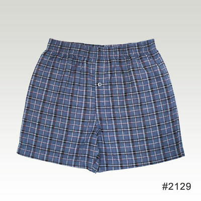 Mens-plaid-Flannel-Pajama-Boxer-Shorts-size-Small-S
