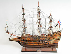 HMS Sovereign of the Seas 1637 Tall Ship Wooden Model 37  Sailboat