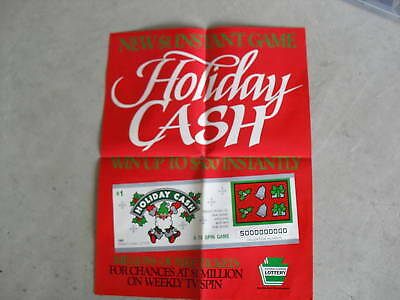 1989 Pennsylvania Lottery Promotional Poster Holiday Ca