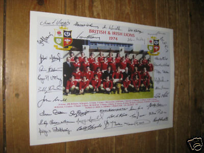 British and Irish Lions 1974 Rugby POSTER Copy Autos