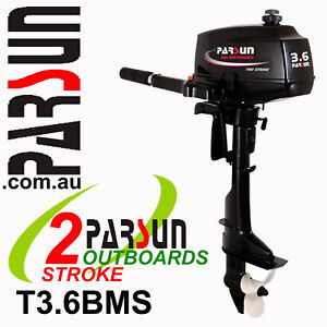 3-6HP-PARSUN-Outboard-2-stroke-Short-Shaft-BRAND-NEW-2yr-FULL-FACTORY-Warranty