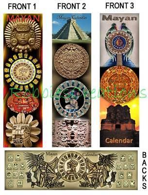 3 Lot-mayan Art Calendar Bookmarks Mask Aztec Mexico Art Book Mark Card Figurine