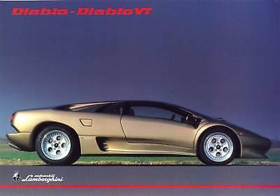 Lamborghini Diablo VT c.1993/94 UK market sales item brochure / leaflet