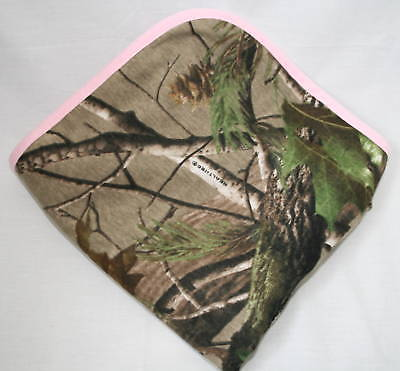 Realtree Apg Camo Camouflage & Pink Infant Baby Blanket