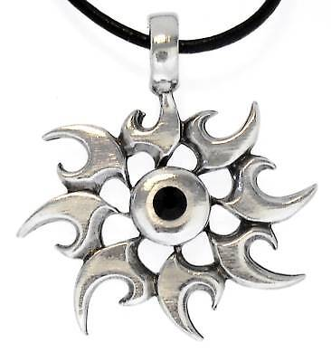 Kaos Star Chaos Pewter Pendant Leather Necklace Surfer