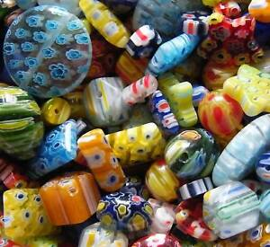 60pcs Millefiori Glass Beads- Mixed Assortment 4mm-20mm