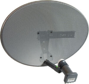 Zone 1 Sky Satellite Dish Quad LNB Freesat PVR HD Plus Mk 4 New