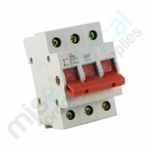 3 Pole Main Switch 63A 80A 100A Electrical Supplies NEW