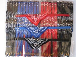 Lot-of-36-dog-pet-collars-with-bandana